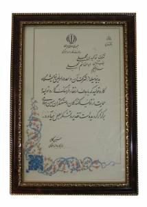 افتخارات و تقدیر نامه ها